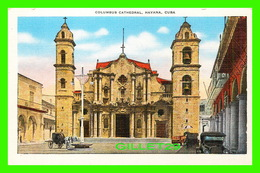 HABANA, CUBA - COLUMBUS CATHEDRAL - ANIMATED -  PUB. BY ROBERT & CO - - Cuba