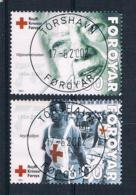 Färöer 2001 Rotes Kreuz Mi.Nr. 391/92 Kpl. Satz Gestempelt - Färöer Inseln