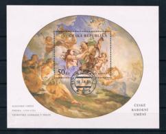 Tschechische Republik 2001 Gemälde Block 15 Gest. - Tchéquie
