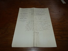 Document  Commercial Facture Henri Dewailly Fabrique De Thés Purgatifs Loos Lez Lille - Belgique
