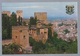 ES.- GRANADA. Alhambra. La Alhambra Y La Ciudad. Ongelopen. - Granada