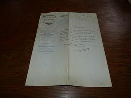 Document  Commercial Facture O. Dubois Pharmacien Paris - Belgique