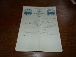 Document  Commercial Facture Savonnerie Parfumerie Hygiophile Dubois Crépy Mons 1900 - Belgique