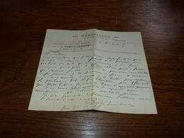 Document  Commercial Facture Poudes De Santé J Dubois Lambert 1903 Huy - Belgique