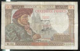 Billet 50 Francs France Jacques Coeur 18-12-1941.J. TB - 1871-1952 Antichi Franchi Circolanti Nel XX Secolo