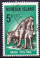 Norfolk Island 1965 SG 58 5d Used Gallipoli Landing - Norfolk Island