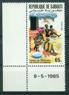 BM Dschibuti 1985 | MiNr 442 Eckrand | MNH | Gründung Einer Pfadfindervereinigung In Dschibuti - Djibouti (1977-...)