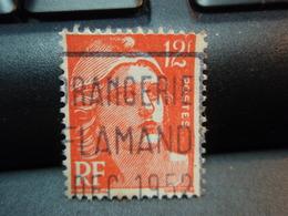 Timbre Marianne De Gandon 12 F Oblitéré ORANGERIE FLAMAND DEC 1952 Beau Timbre - France