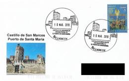 SPAIN. POSTMARK. SAN MARCOS CASTLE. PUERTO DE SANTA MARIA. 2019 - Marcofilia - EMA ( Maquina De Huellas A Franquear)