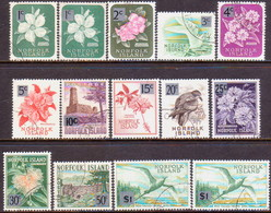 Norfolk Island 1966 SG 60-71a Compl.set Incl. 60a And 71a Used New Currency - Norfolk Island