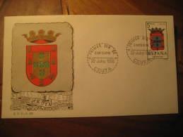CEUTA 1966 Escudo Coat Of Arms Arm Fdc Cover Spain Colonies Area España Marruecos Morocco Maroc - Marruecos Español