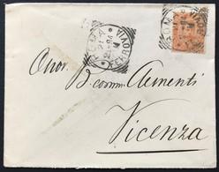 20 Cent, Busta Da Roma Ferrovia 21/2/1894 Per Vicenza - 1878-00 Umberto I
