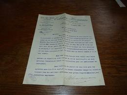 Document  Commercial Facture Grands Vins D'Espagne Malaga 1904 Eckman Hermanos Vins El Arcabucero - Belgique