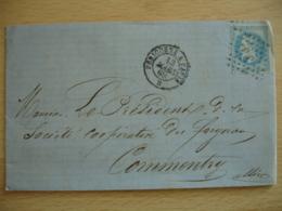 P P  Perigueux A Paris  Obliteration Lettre Poste Ferroviaire  Bureau Change 4201 - 1877-1920: Période Semi Moderne