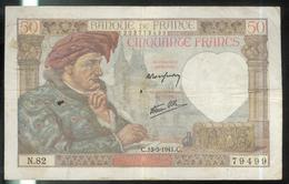 Billet 50 Francs France Jacques Coeur 15-5-1941.C. - 1871-1952 Antichi Franchi Circolanti Nel XX Secolo
