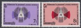 Cambodia 1971 - World Telecommunications Day - Mi 300-301 ** MNH - Cambodge