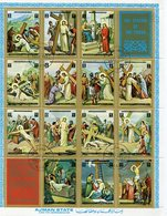 THE LIFE OF JESUS CHRIST - AJMAN MICHEL 2965 / 2978 FEUILLET COMPLETE SERIE OBLITERES AÑO 1972 USED - LILHU - Christendom