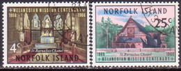 Norfolk Island 1966 SG 74-75 Compl.set Used Melanesian Mission - Norfolk Island