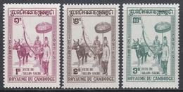 Cambodia 1960 - Festival Of The Sacred Furrow - Mi 103-105 ** MNH - Cambodge