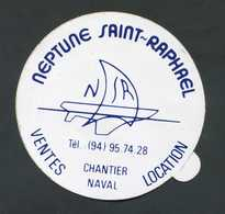 """Sticker Autocollant Chantiers Navals """"Neptune Saint Raphaël"""" Hyères (Var) - Publicités"""