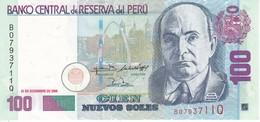 BILLETE DE PERU DE 100 NUEVOS SOLES DEL AÑO 2006 CALIDAD EBC (XF) (BANKNOTE) - Pérou