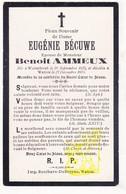 DP Im. Mort. - Eugenie Bécuwe ° Wormhout FR Nord 1827 † Watou Poperinge BE 1903 X Benoit Ammeux - Images Religieuses