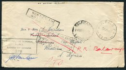 1941 Australian Forces A.I.F. Field Post Office, Censor Cover. Rhodesia Bulawayo Cripinga Unclaimed Redirected - Lettres & Documents