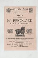 Publicité 1879 Oisellerie De L'Elysée Paris Maison Renouard Marchand D'Oiseaux Chiens D'appartements - Publicités