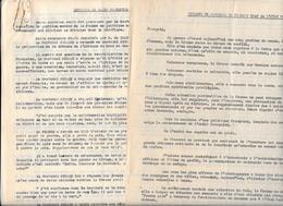 2 Documents MESSAGE Du MARECHAL De FRANCE Paru Au J.O. 4/1/1942 & ENTREVUE DE ST FLORENTIN 1/12/1941 PETAIN,GOERING - Documents Historiques