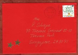Brief, EF Freundschaft Sk, MS Post Early For Christmas Singapore 1997 (71042) - Singapour (1959-...)