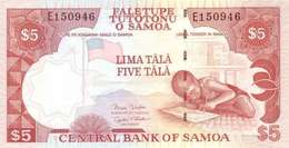 SAMOA 5 TĀLĀ ND (2002) P-33b UNC SIGN. RETZLAFF & SCANLAN [WS108c] - Samoa