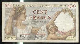 Billet 100 Francs France Sully 3-4-1941.DZ - 1871-1952 Anciens Francs Circulés Au XXème