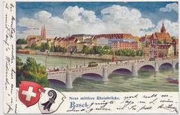 1905 Neue Mittlere Rheinbrücke BASEL - Gelaufen Von Neu Allschwil Nach Zürich - BS Bâle-Ville