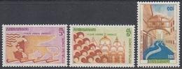 """Cambodia (Khmere) 1972 - UNESCO Campaign """"Save Venice""""  - Mi 318-320 ** MNH - Cambodge"""