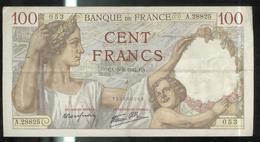 Billet 100 Francs France Sully 5-3-1942.CA. - 1871-1952 Anciens Francs Circulés Au XXème