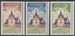 Cambodia (Khmere) 1973 - New Constitution - Mi 365-367 ** MNH - Cambodge