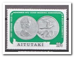 Aitutaki 1973, Postfris MNH, Coins, Bird - Aitutaki