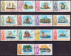 Norfolk Island 1967 SG 77-90 Compl.set Used Ships - Norfolk Island