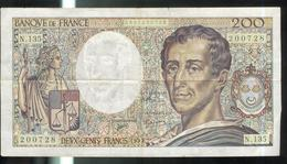 Billet 200 Francs France Montesquieu 1992 - 1962-1997 ''Francs''
