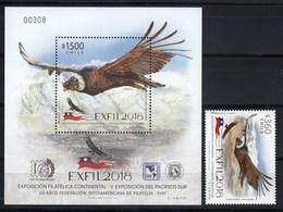 Chile 2018 Fauna Birds SS + 1v MNH - Chile