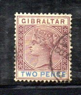 XP4517 - GIBILTERRA 1898 , Unificato N. 33  Usato  (2380A) . - Gibraltar