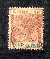 XP4518 - GIBILTERRA 1898 , Unificato N. 34  Usato  (2380A) . - Gibraltar