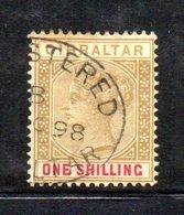 XP4519 - GIBILTERRA 1898 , Unificato N. 36  Usato  (2380A) . - Gibraltar