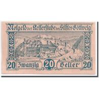 Billet, Autriche, Göttweig, 20 Heller, Rempart, 1920, 1920-12-01, SPL, Mehl:245 - Autriche