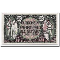 Billet, Autriche, Fahrafeld, 50 Heller, Personnage, 1920, 1920-07-01, SPL - Autriche