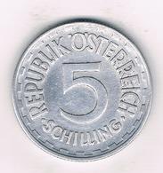 5 SCHILLING 1952 OOSTENRIJK /2531/ - Austria