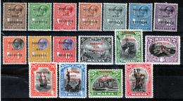 MALTA  1928 VIEWS  SET OVERPRINTED MH/MNH MISSING 1P & 11/2 P  SG £ 190.00 - Malte