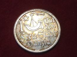 Münze Freie Stadt Danzig 1 Gulden Silber 1923 Jaeger D7 - [ 3] 1918-1933 : Weimar Republic
