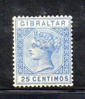 XP4520 - GIBILTERRA 1889 , Unificato N. 24  Nuovo  *  (2380A) . - Gibraltar