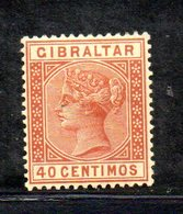 XP4521 - GIBILTERRA 1889 , Unificato N. 25  Nuovo  *  (2380A) . - Gibilterra